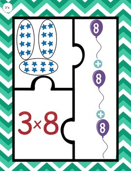 Multiplication Puzzles - Threes