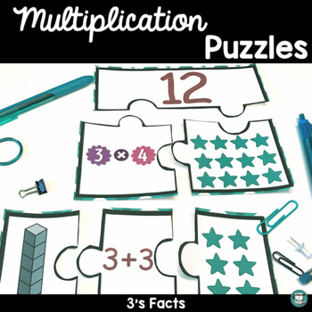 Multiplication Games to Practice Facts, Puzzle Center - Threes