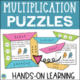 Multiplication Puzzles Math Center