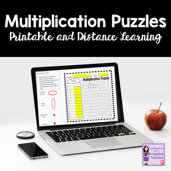 Multiplication Puzzles (2 Puzzles for Each Number)