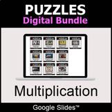 Multiplication - Puzzles Digital Bundle | Google Slides |