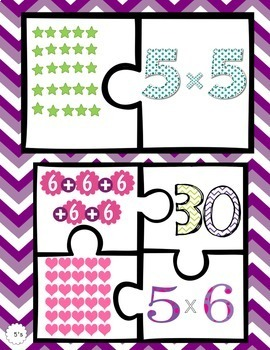 Multiplication Puzzles - Fives