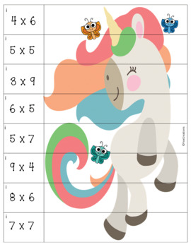 Multiplication Puzzles ~ Math Center Basic Facts ~ At School or In a Car!