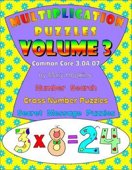 Multiplication Puzzles Volume 3 - Common Core Aligned