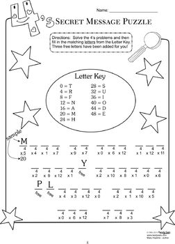 Multiplication Puzzles Volume Two - Common Core Aligned