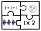 Multiplication Puzzles- Winter Themed (50 Puzzles x1 -x5 Facts)