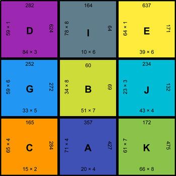 Multiplication Puzzles with GOOGLE Slides Bundle