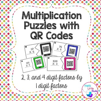 Multiplication Puzzles with QR Codes