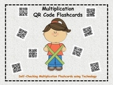Multiplication QR Code Flashcards (self-checking activity with answer key)