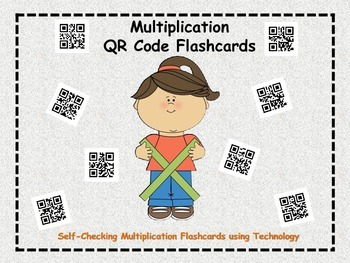 Multiplication QR Code Flashcards (self-checking activity