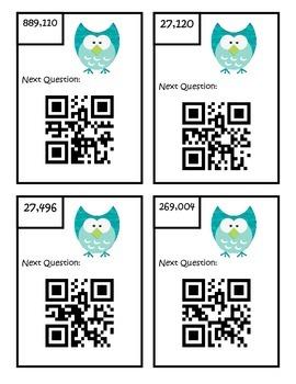 Multiplication QR Code Scavenger Hunt - Fifth Grade - 5.NBT.5