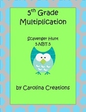 Multiplication QR Code Scavenger Hunt - Fifth Grade - 5.NBT.5