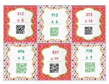 Multiplication QR Code Task Cards