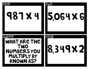 Multiplication QR Code Task Cards (Upper Elementary)