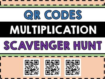 Multiplication QR Codes Scavenger Hunt - QR Code Math Centre - Technology