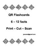 Multiplication QR Flash Cards 6-12