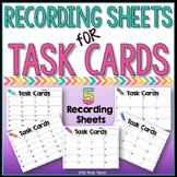 Recording Sheets for Task Cards
