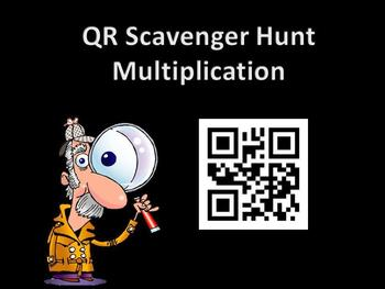 Multiplication QR Scavenger Hunt