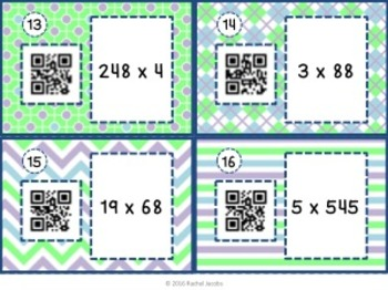 Multiplication QR Task Cards