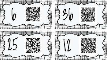Multiplication QR code Hunt