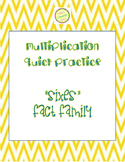 "Multiplication Quick Quiz ""6"" Fact Family - Learn to Multiply in 2 Minutes a Day"