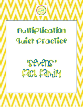 "Multiplication Quick Quiz ""7"" Fact Family - Learn to Multiply in 2 Minutes a Day"