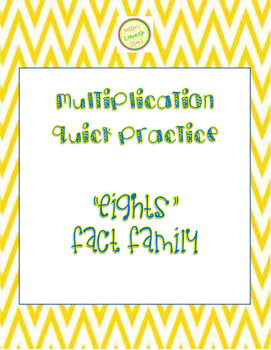 """Multiplication Quick Quiz """"8"""" Fact Family - Learn to Multiply in 2 Minutes a Day"""