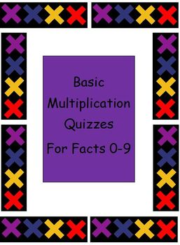 Multiplication-Quick Quizzes for facts 0-9