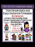 Quick and Easy to Prep Centers and Printables Third Grade