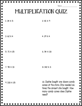 Multiplication Quiz