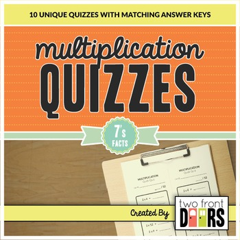 Multiplication Quiz (7's Facts)