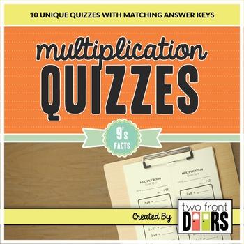 Multiplication Quiz (9's Facts)