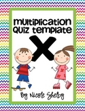 Multiplication Quiz Freebie