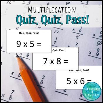 Multiplication Quiz, Quiz, Pass