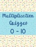 Multiplication Quizzes 1-10