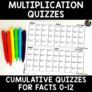 Multiplication Quizzes - Multiplication Facts
