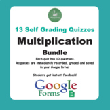 Multiplication Quiz with Google Forms - Bundle