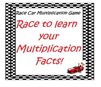 Multiplication Race Car Game