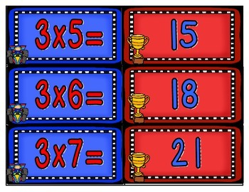 Multiplication Race Card Set