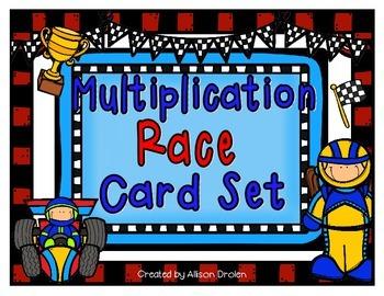 Multiplication Race Card Set