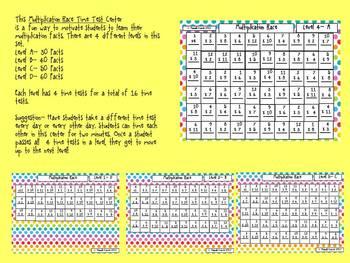 Multiplication Race Time Test Center