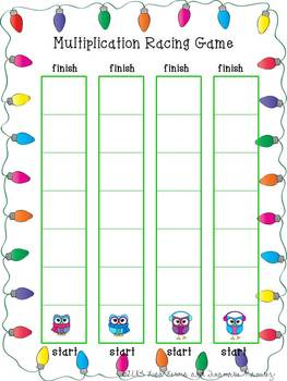 Multiplication Center Game Owls ~ 2 Digit by 1 Digit {up to x6}