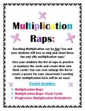 Multiplication Raps: Catchy Flash Cards & Worksheets!