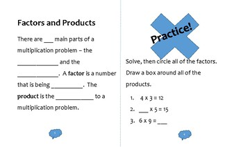 Multiplication Reference and Activity Booklet