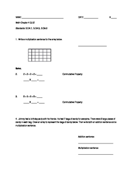 Multiplication/Repeated Addition/Array - Quiz