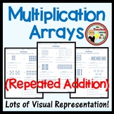 Multiplication (Repeated Addition) Arrays 3 Printables Independent Practice