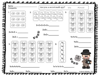 Are you a secret math spy? Find out with this Multiplication Bundle.