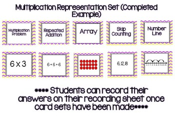 Multiplication Representations Matching Cards - TEKS 3.4E