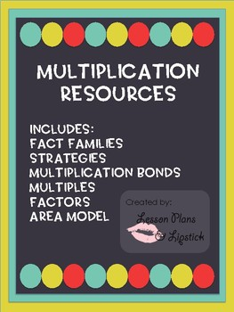 Multiplication Resource - Fact Families, Factors and Multiples, Area Model