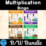 All Multiplication Bingo Games In Black and White Only